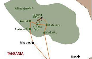 Wyprawa na Kilimandżaro trasą Machame
